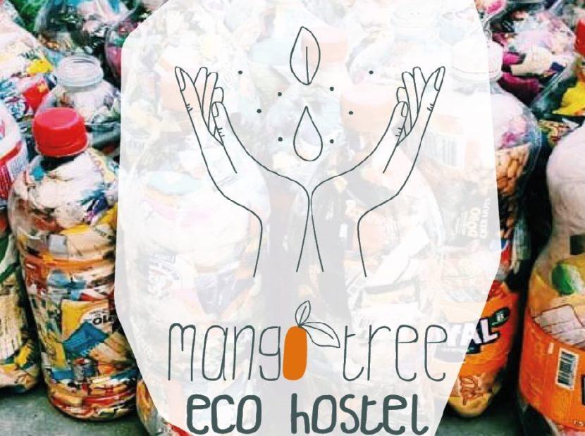Mango Tree EcoHostel Logo with ecobricks